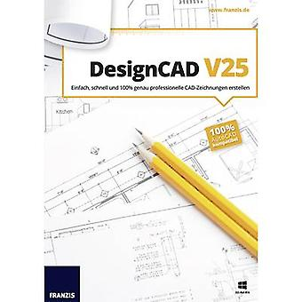 Franzis Verlag DesignCAD V25 Full version, 1 license Windows CAD