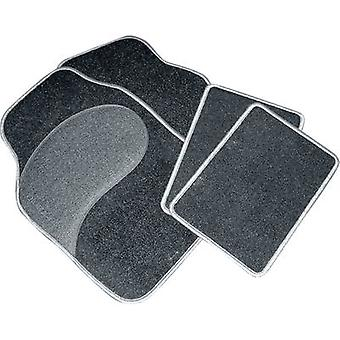 Eufab Diamond Carpet Car Mats 4 Parts Piece Set - Grey Trim