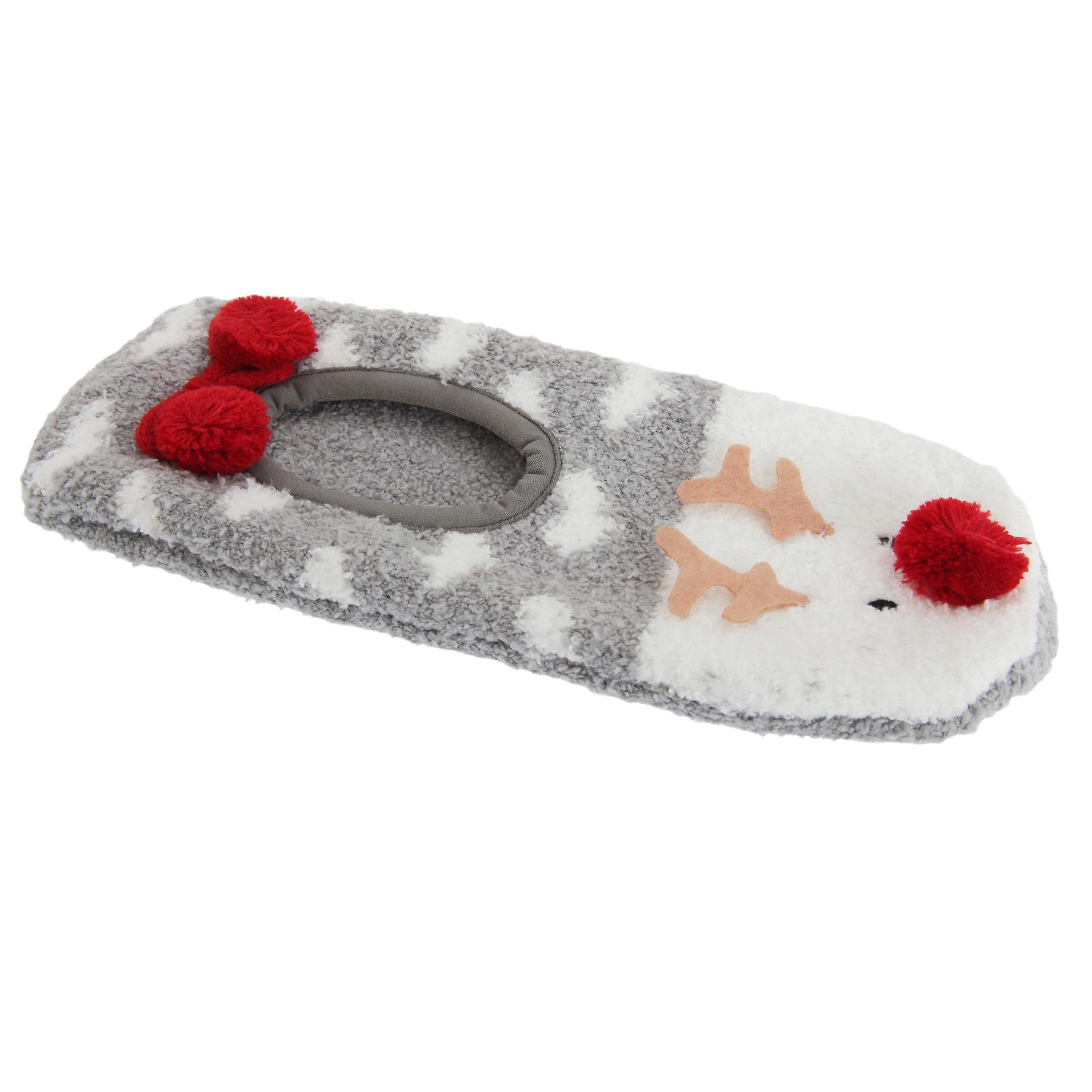Ladies Womens Reindeer Slippers Fluffy Foxbury Warm Ufq5q