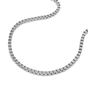 Box chain stainless steel necklace
