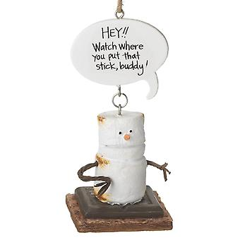 Smores Hey Watch Where You Put That Stick Christmas Holiday Ornament Midwest CBK