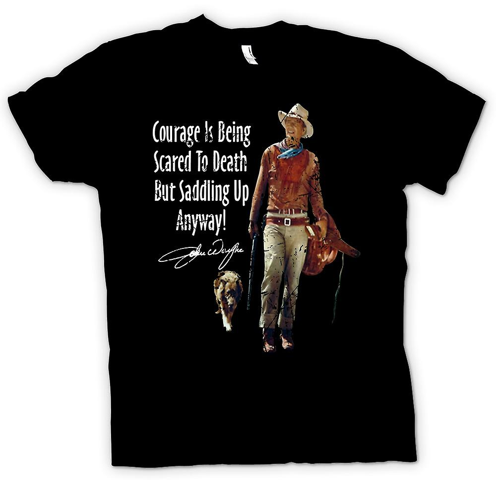 Kids T-shirt - John Wayne Courage - Western Cowboy
