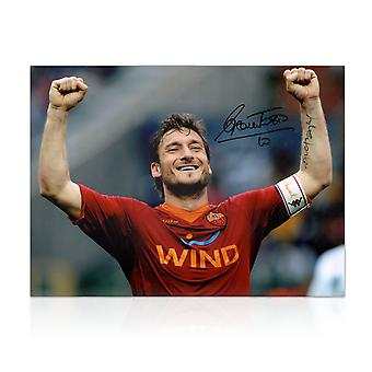 Francesco Totti Signed AS Roma Photo: The Roman Emperor