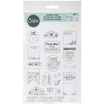 Sizzix Coloring Stickers By Katelyn Lizardi-Color Your Planner