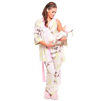 Olian Rose 5-Piece Nursing PJ Set with Baby Outfit