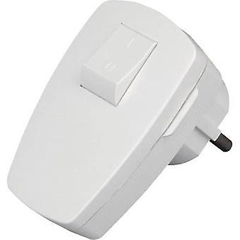 Kopp 170402006 Safety L-shape mains plug Plastic + switch 230 V White IP20