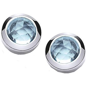 Cavendish French Beauty Stud Earrings - Silver/Blue