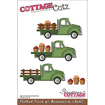 CottageCutz Die-Flatbed Truck W/Accessories 4.9
