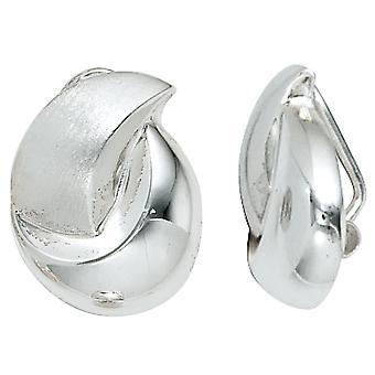 Klip kolczyki klipy 925 sterling silver rod galwanicznie częściowo matowe srebro kolczyki