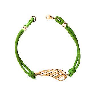 Pols Angel Wings vleugels groene vergulde brons