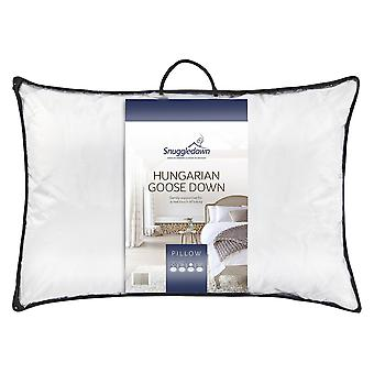 Snuggledown Hungarian Goose Down Pillow 48 x 74cm 100% Pure Cotton Cambric Cover