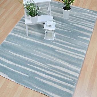 Eco roto raya alfombras Ec04 en Aqua