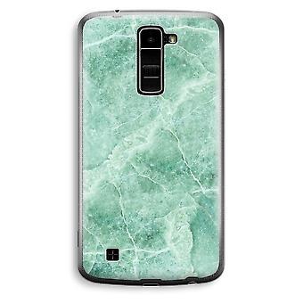 LG K10 (2016) gennemsigtig sag (Soft) - grøn marmor