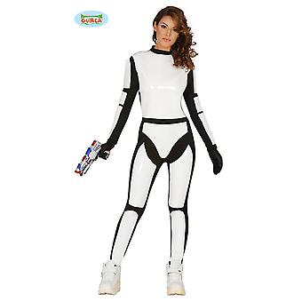 Guirca - stjerne kriger damer kostume voksen soldat space space soldat
