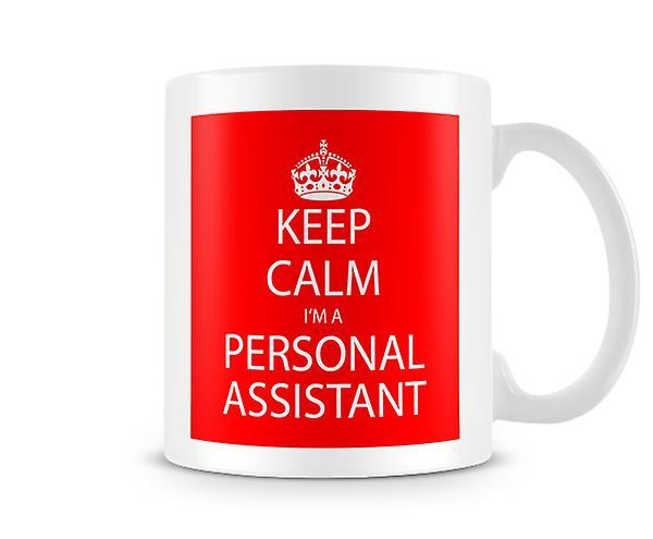 Keep Un Mug Suis Calm Je Imprimé Personnel Assistant O0wnPX8k