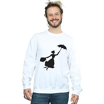 Disney Men's Mary Poppins Flying Silhouette Sweatshirt