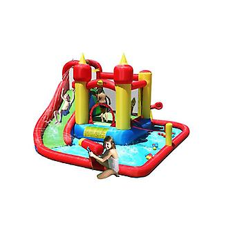 Happy Hop Jump and Splash Funland 14ft Inflatable Bouncy Castle & Water Slide