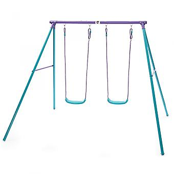 Plum Sedna Metal Double Swing Set