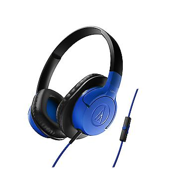 Remoto de Audio-Technica ATH-AX1iS azul auriculares + Mic para iPhone/Android