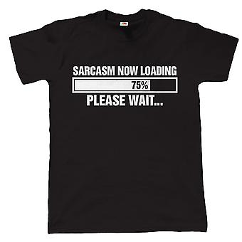 Sarcasm Loading Funny Mens T Shirt - Birthday Fathers Day Gift for Dad Grandad