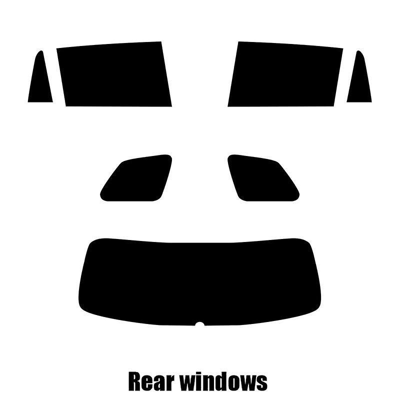 Pré coupé vitres teintées - Skoda Kodiaq - 2017 et plus récents - les fenêtres arrière