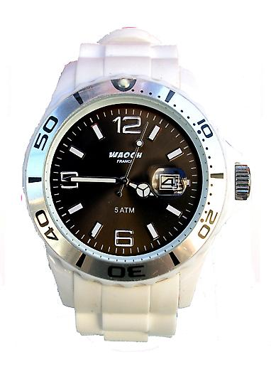 Waooh - Watch MONACO 42 White Dial Color