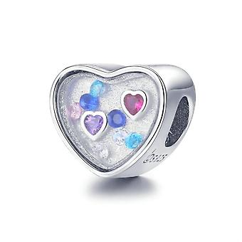 Sterling silver charm The soul cannot live without love