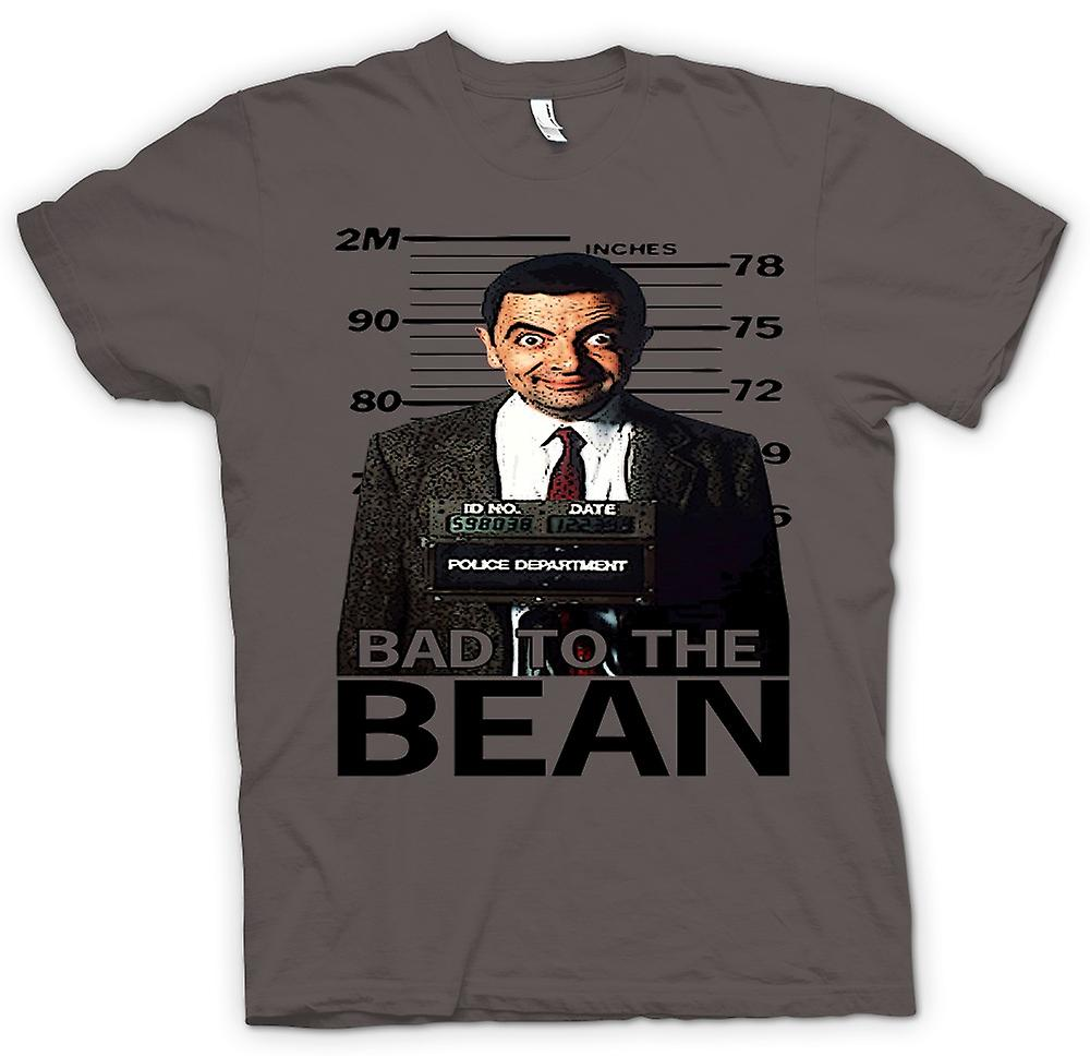 Womens T-shirt - Herr Bean Bad auf Bean Mug Shot - Comedy