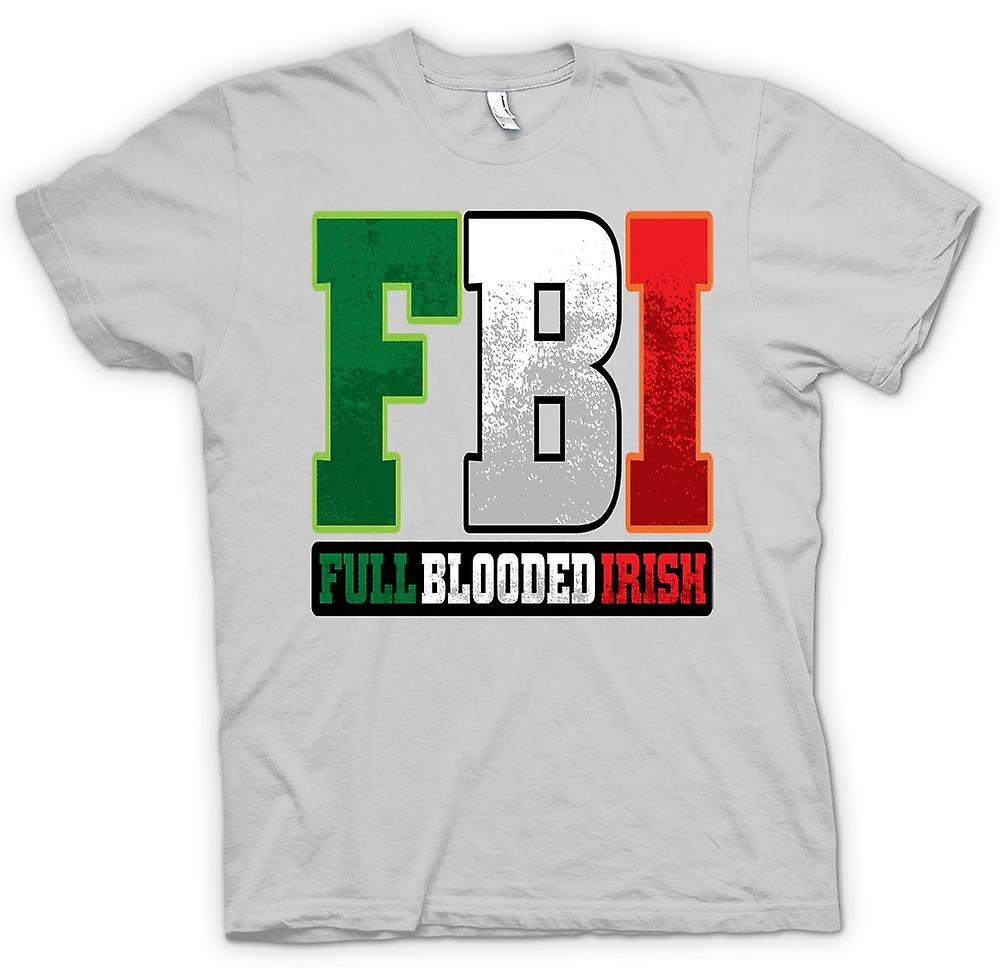 Herr T-shirt - St Patricks Day - FBI - Full blod irländska