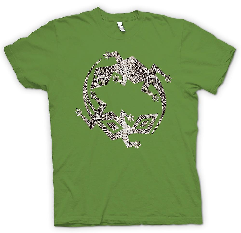 Mens T-shirt - Lizard and Gecko Symbol - Snake Skin