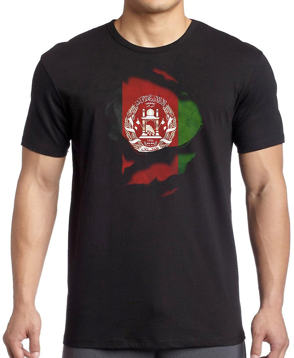 Afghanistan Afghani Ripped Effect Under Shirt T Shirt