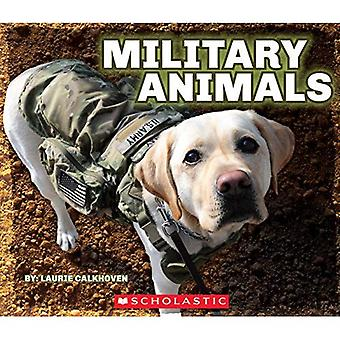 Military Animals with Dog Tags