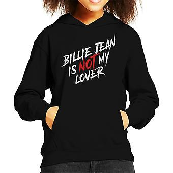Michael Jackson Billie Jean Is Not My Lover Kid's Hooded Sweatshirt