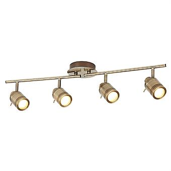Samson Antique Brass Four Light Bathroom Spotlight On Bar - Searchlight 6604AB