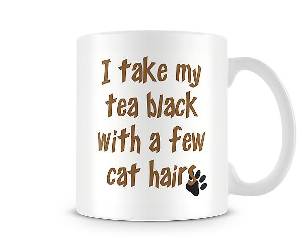 Take My Tea Black Cat Hair Mug