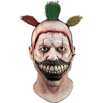 曲がりくねったピエロは、大人用で完全なマスク。