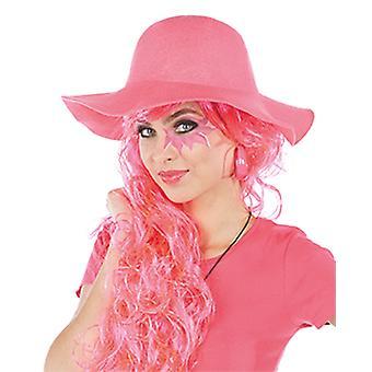 Hippie Hat neon-roze