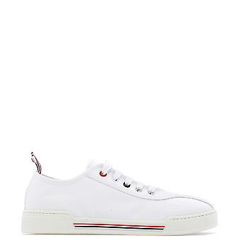Thom Browne White Fabric Sneakers