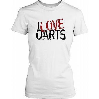 Jeg elsker dart damer T skjorte