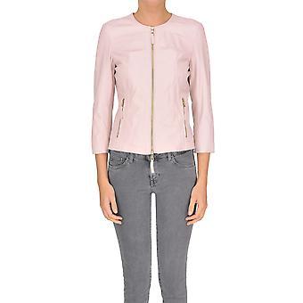 Myskin Pink Leather Outerwear Jacket