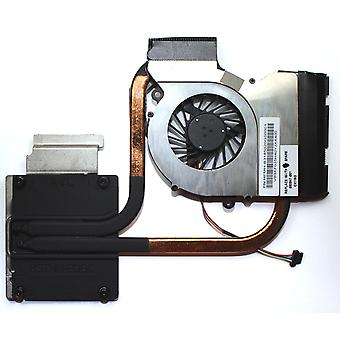 HP Pavilion DV7-6031EO Integrated Graphics Version Compatible Laptop Fan With Heatsink For AMD Processors