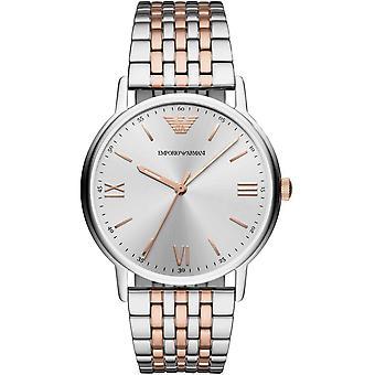 Emporio Armani Mens herrer kle sølv håndleddet Watch AR11093