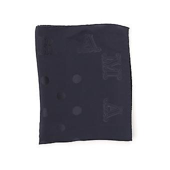 Max Mara Blue Silk Scarf