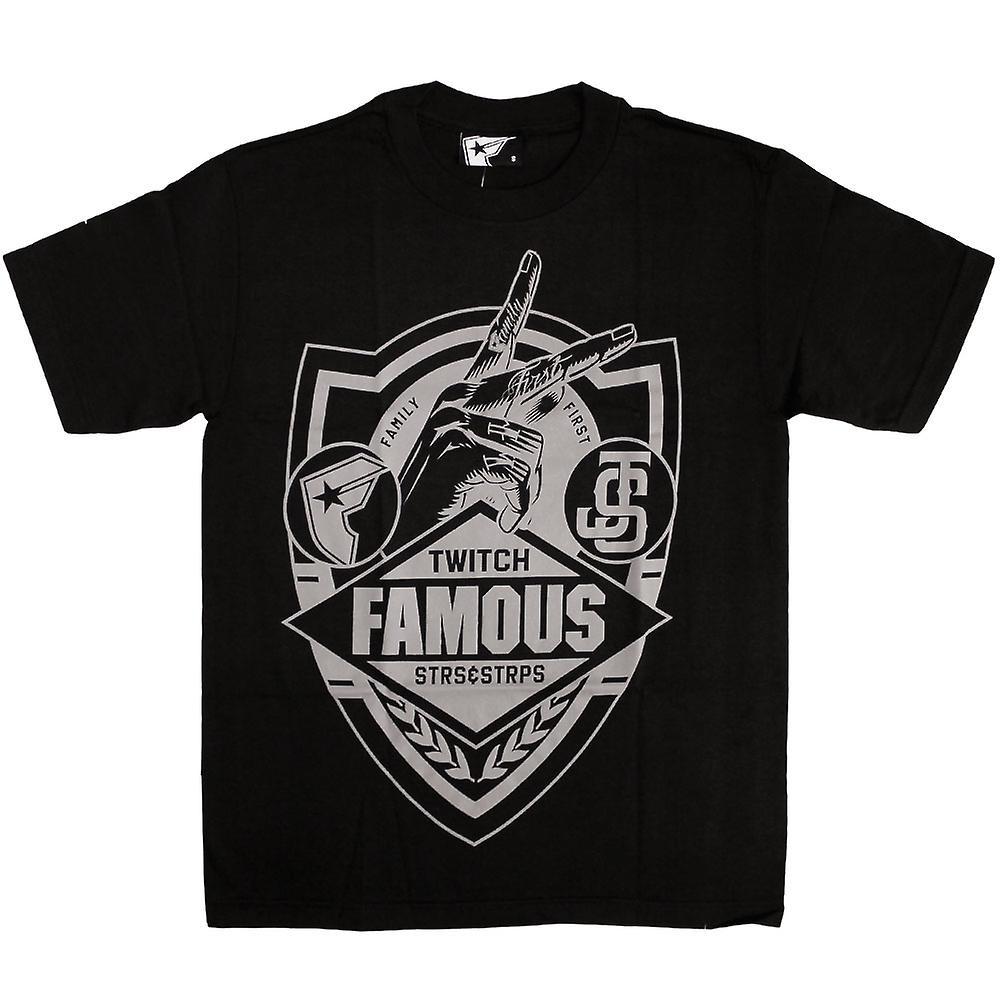 Berömda stjärnor och remmar JS familj första Shield T-Shirt svart grå