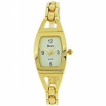Boxx Gold Tone Bracelet Strap Ladies Dress Watch 40034