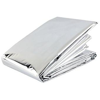 Blue Dot Emergency Thermal Silver Foil Survival Sports Blanket-Full Adult Size-2m x 1,4 m