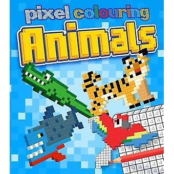 Pixel Colouring Animals by Dan Crisp - 9781784287986 Book