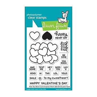 Lawn Fawn How You Bean? Conversation Heart Add-On Clear Stamps (LF1553)