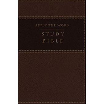 NBG, toepassing van het woord Studiebijbel, grote druk, Imitatieleder, bruin, geïndexeerd, rode letter editie: Live in zijn stappen