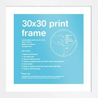 Eton wit Frame 30 x 30cm Poster / Frame afdrukken